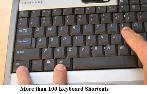 Key baord Shortcuts ,More than 100 Keyboard Shortcuts