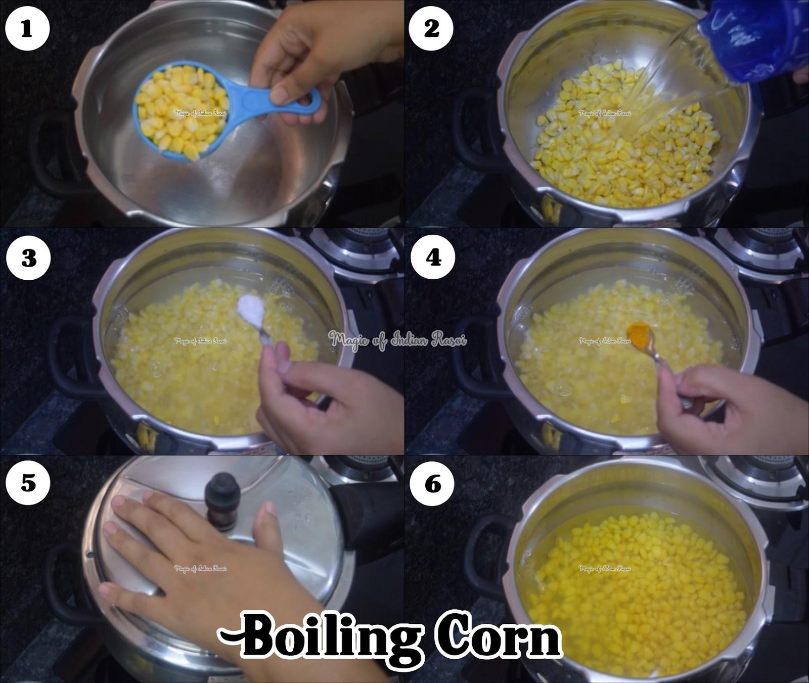 Corn in Cup - 3 flavours - Butter Masala, Minty Pani Puri, Cheese & Herbs - बटर कॉर्न, पानी पूरी कॉर्न और चीज़ हर्ब्स कॉर्न रेसिपी - Priya R Sweet - Magic of Indian Rasoi