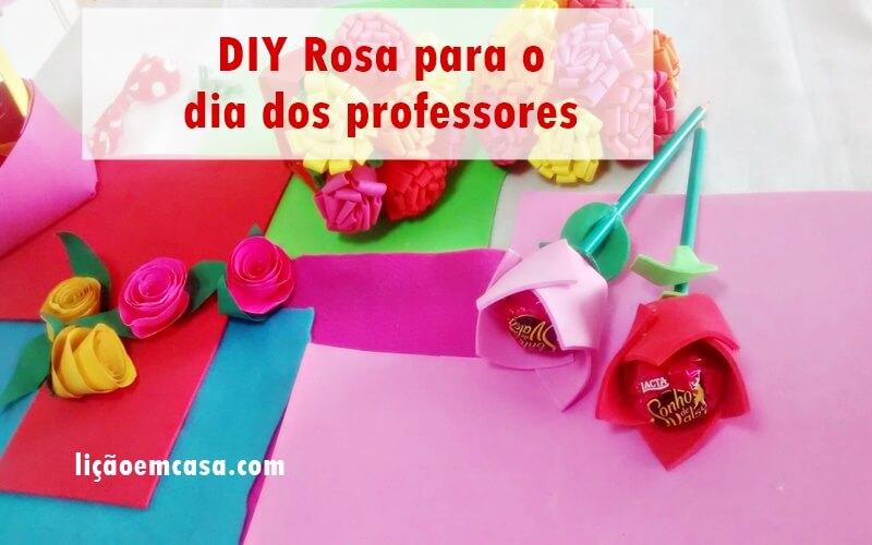 DIY Rosa para o dia dos professores