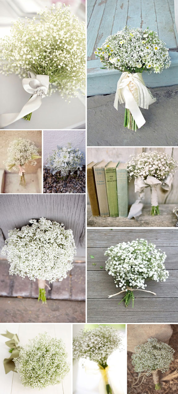 3ad255dcc3 Break free from the standard red rose bouquet by choosing a baby s breath  bouquet- they are cute