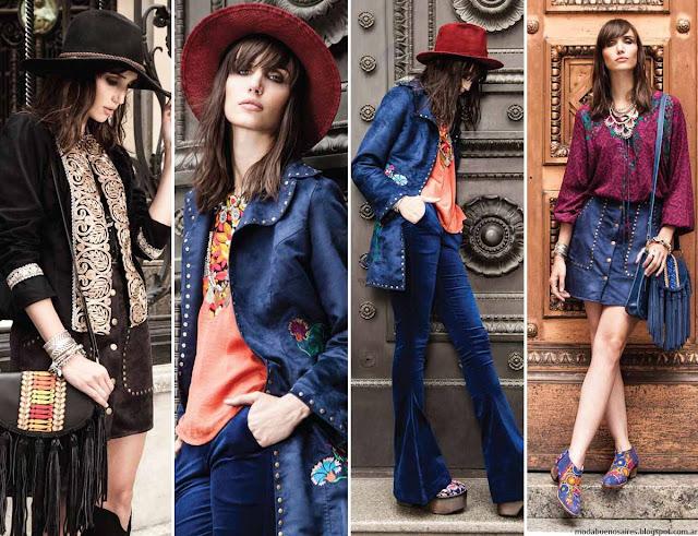Moda invierno 2016, Carola Lev pantalones oxford, chaquetas, faldas y vestidos invierno 2016. Moda 2016.