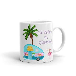 glamping designer coffee mug