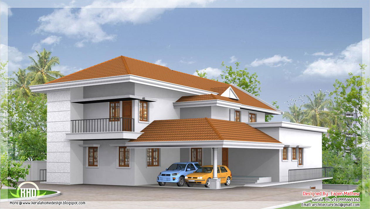 Front Elevation Of Villas In Kerala : Beautiful villa elevations kerala home design and