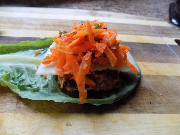 This did lead to a steak though (Moroccan chicken burgers with carrot mint slaw)