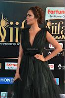 Esha Gupta in a Deep Neck Sleeveless Dark Green Gown at IIFA Utsavam Awards 2017     02.JPG