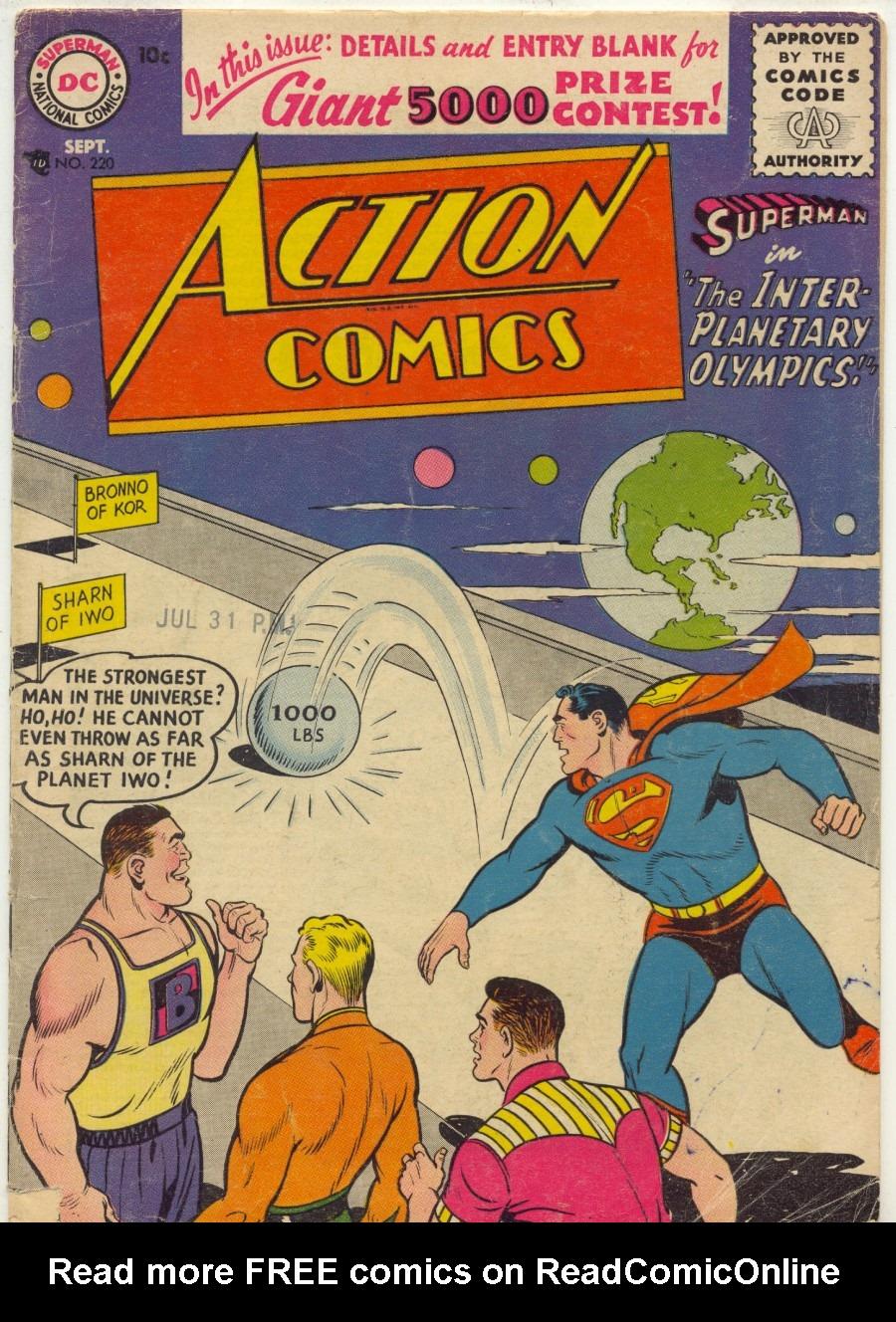 Action Comics (1938) 220 Page 0