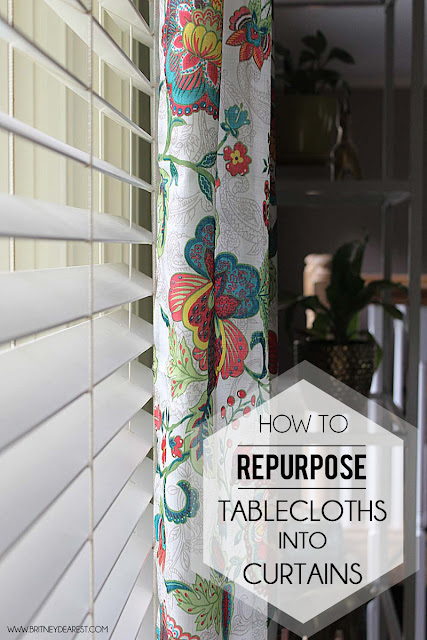 How to, Repurpose, Pair of, Tablecloths, Into, Curtains, TUTORIAL