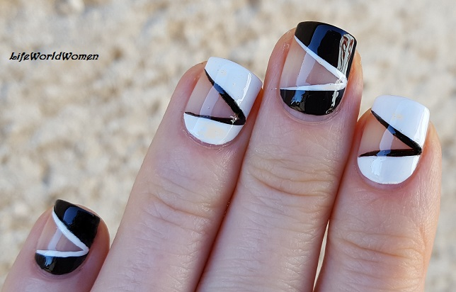Life world women black white negative space tape nail art todays manicure is a monochrome nail art a black and white negative space tape design prinsesfo Gallery