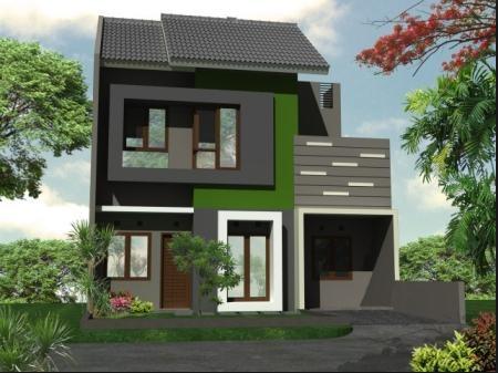 50 gambar desain rumah impian persegi panjang minimalis