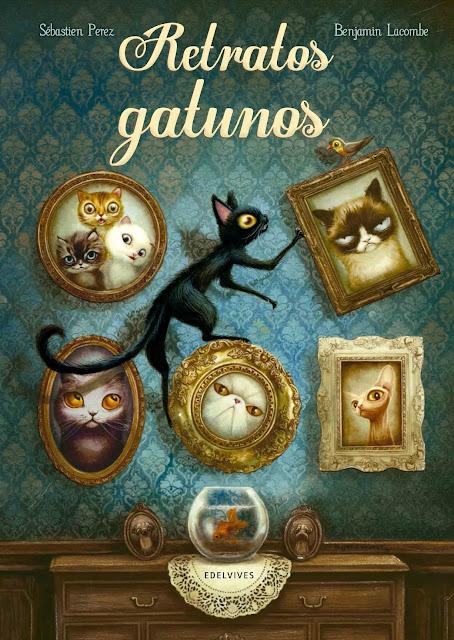 Retratos Gatunos, Benjamin Lacombe, Libro Ilustrado