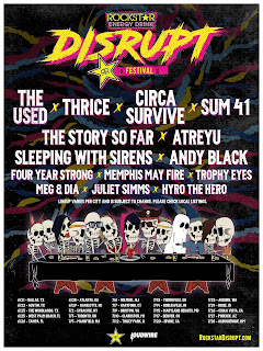 The Used, Thrice, Circa Survive, Sum 41, more