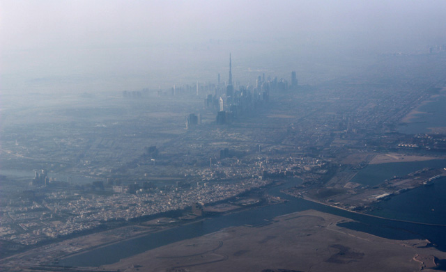Dubai, vista desde el avión