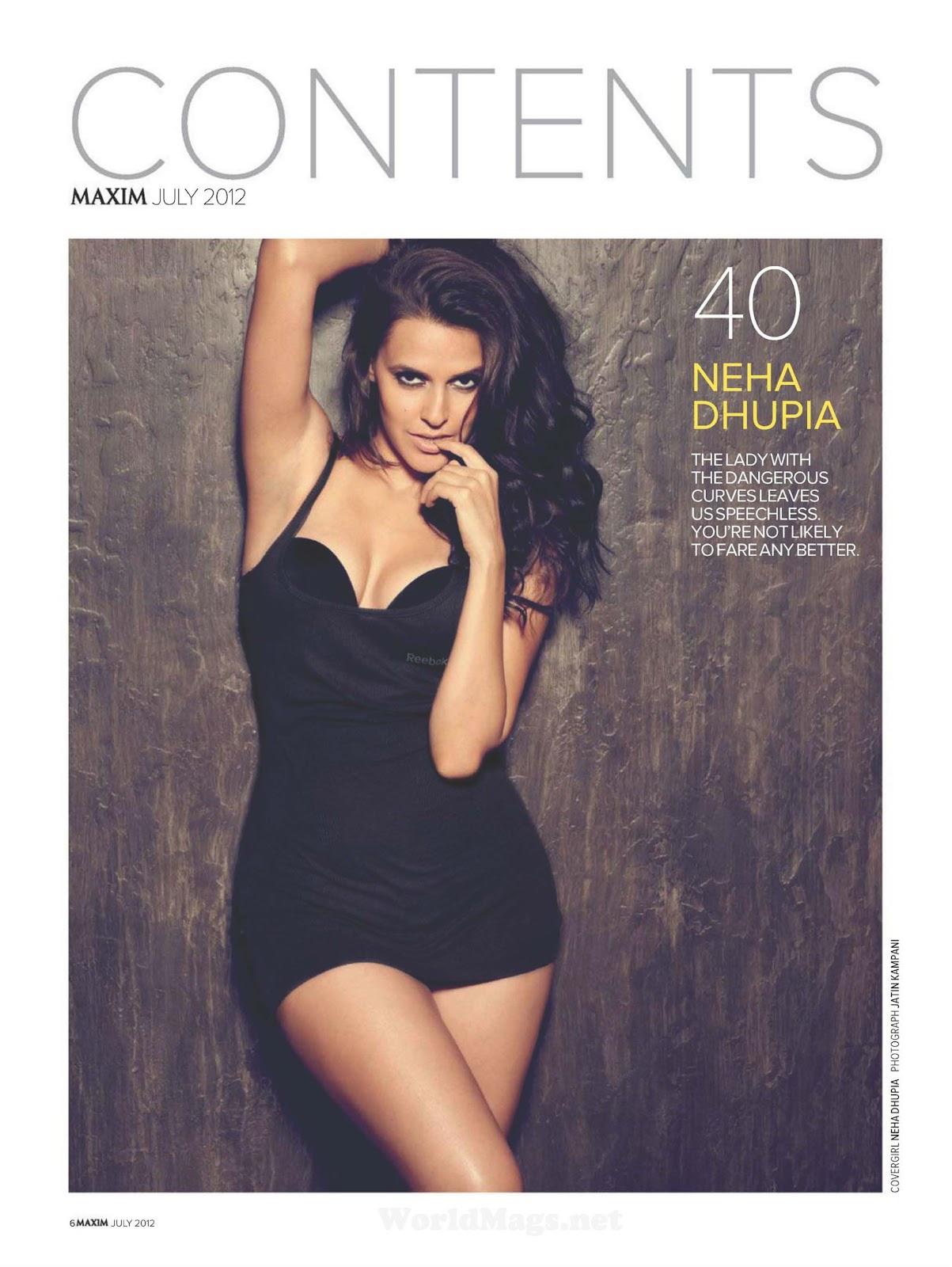 Desi Actress Pictures Neha Dhupia Maxim Magazine Hot Photos-1763