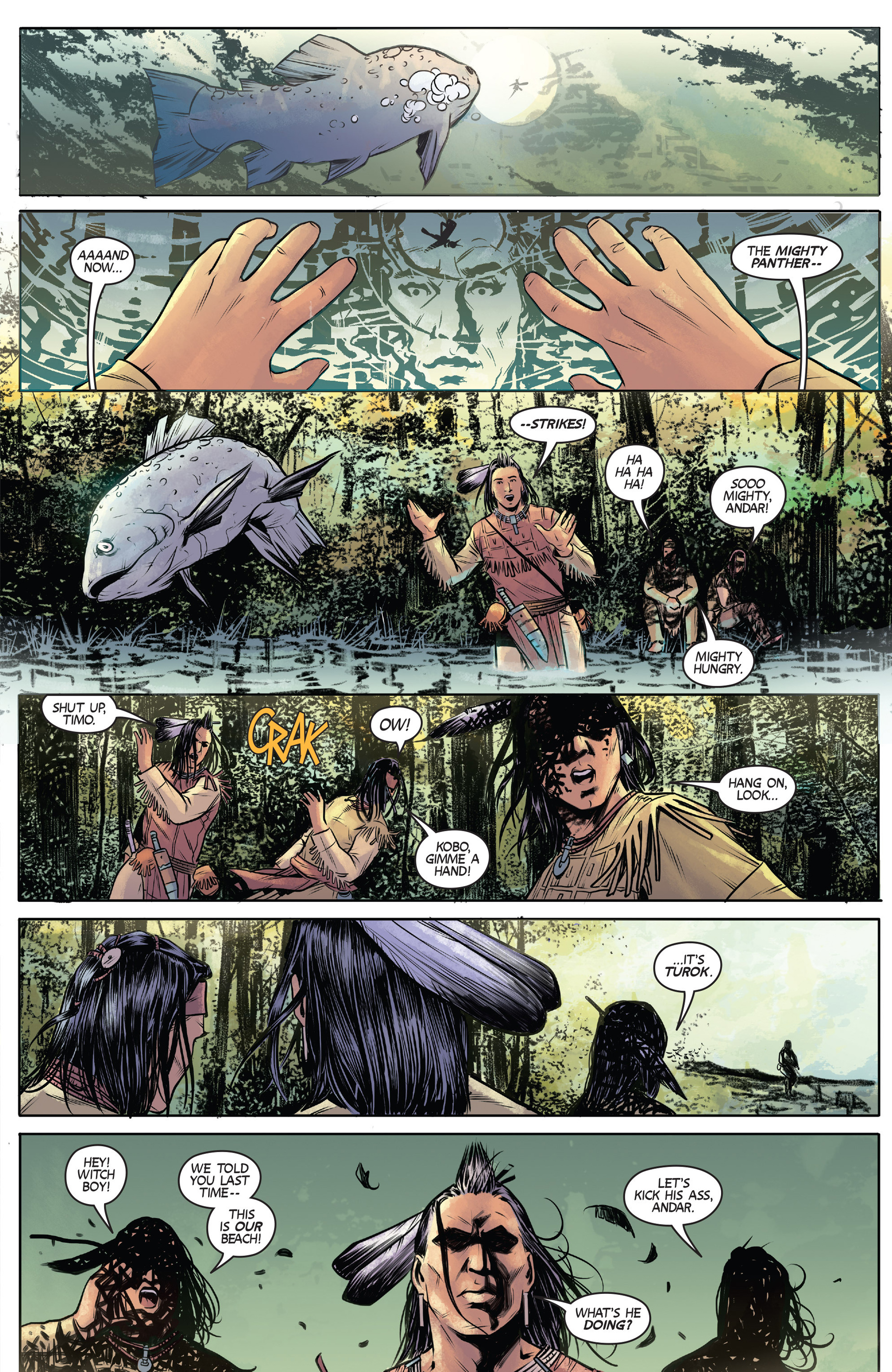 Read online Turok: Dinosaur Hunter (2014) comic -  Issue #1 - 7