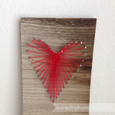 mit Strich und Faden: Fadenbild Herz