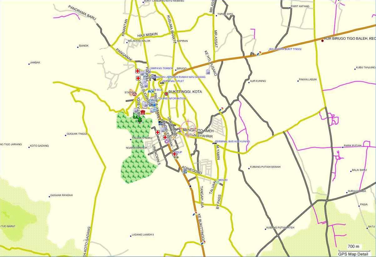 Peta Kota Peta Kota Bukittinggi