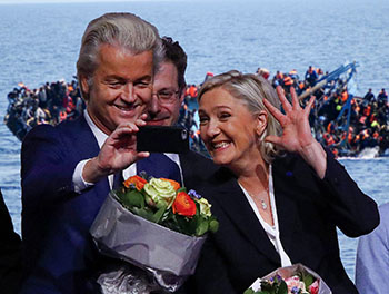 el villano arrinconado, humor, chistes, reir, satira, Marine Le Pen, Wilders
