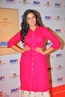 Sree Mukhi in Pink Kurti looks beautiful at Meet and Greet Session at Max Store (62).JPG
