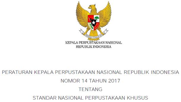 Standar Nasional Perpustakaan Khusus