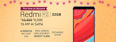 Xiaomi Redmi Y2 3GB RAM Rs 8,999 (Rs 1000 off)