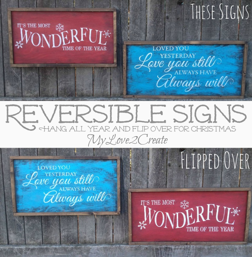 MyLove2Create, Pottery Barn Knock off and Reversible signs