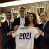 Photos from Cristiano Ronaldo's new £500k per week contract signing today