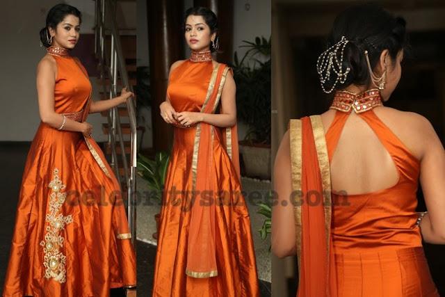 Bhavya Orange Lehenga