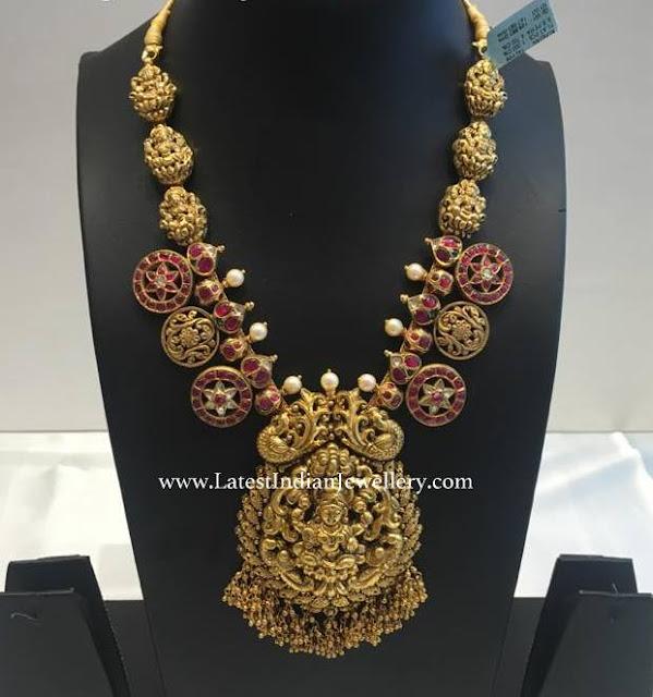 Ruby Billa Lakshmi Necklace