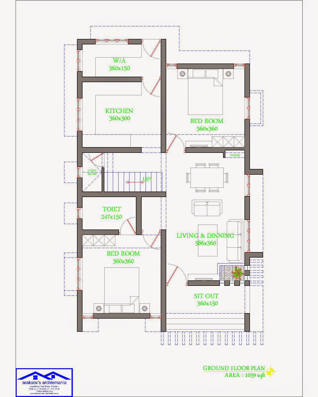 Araksov 39 s archiemania budget home plans elevations for Ground floor vs first floor