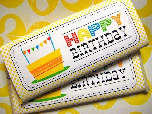 Happy Birthday Candy Bar Wrapper