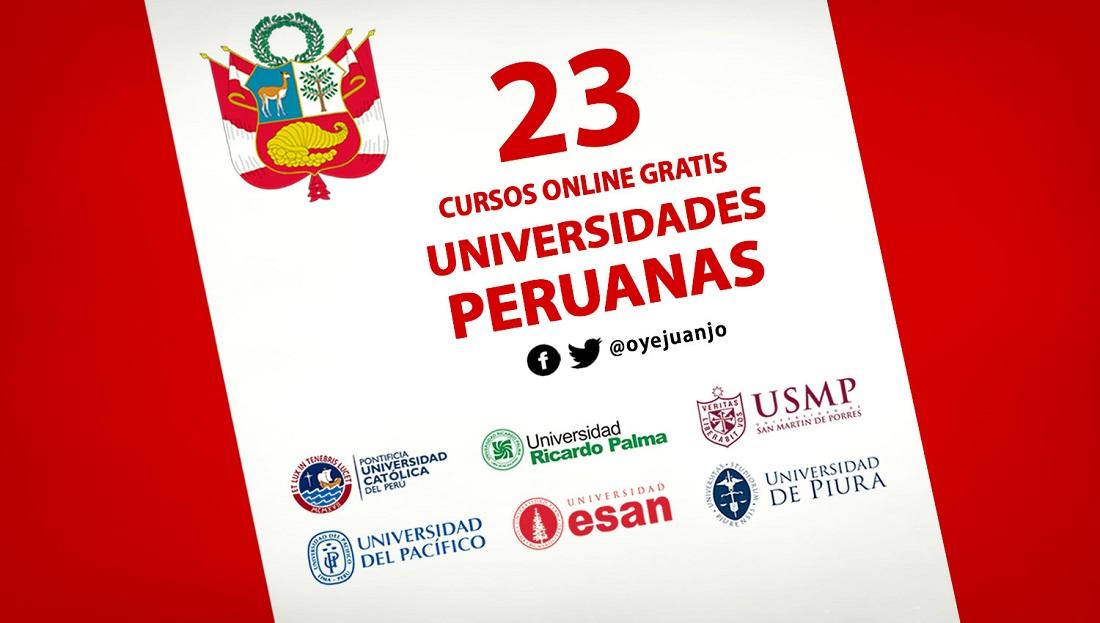 23 Cursos Online Gratis De Universidades Peruanas