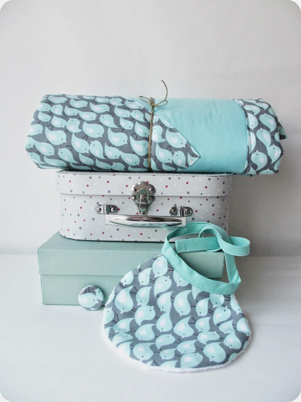 tadaam plaid aux petits oiseaux. Black Bedroom Furniture Sets. Home Design Ideas