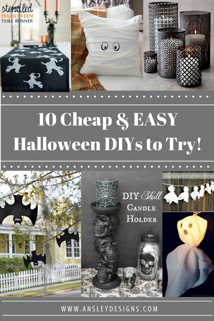 10 Easy & Cheap Halloween Decor DIYs! Bats, Ghosts
