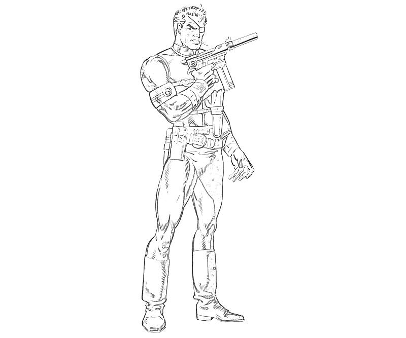 marvel ultimate alliance nick fury character coloring pages