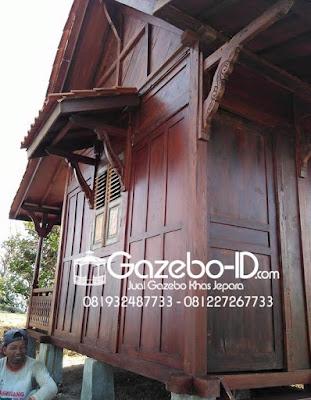 Gazebo Rumah Ukir Jawa Jati Jepara - Kiri