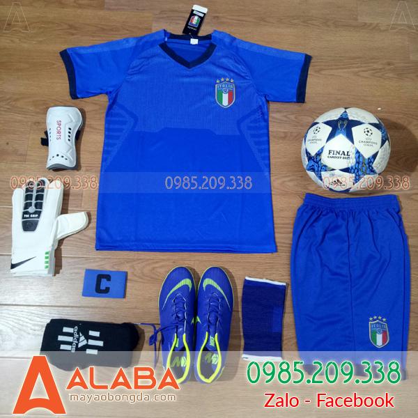 Áo Đội Tuyển Ý 2018 Sân Nhà Màu Xanh