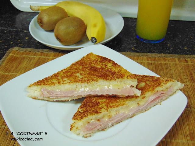 Sándwich mixto en plancha o sartén