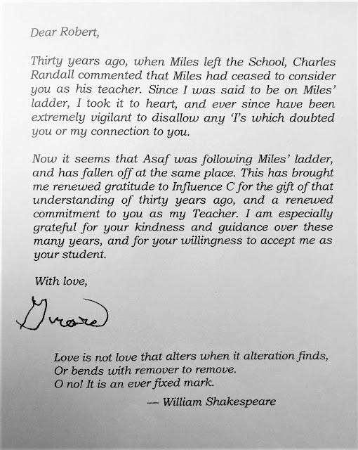 Girard Haven letter to Fellowship of Friends cult leader Robert Earl Burton regarding Asaf Braverman and Miles Barth