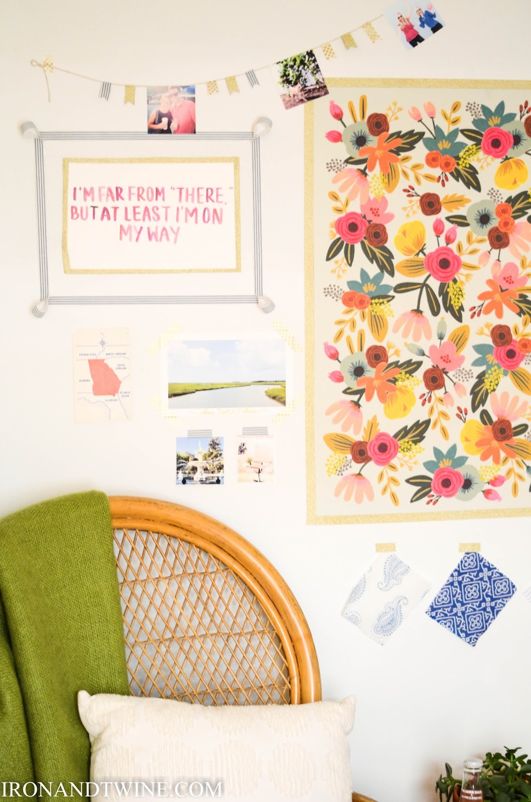 Dorm Room Wall Decor: IRON & TWINE: Washi Tape Gallery Wall