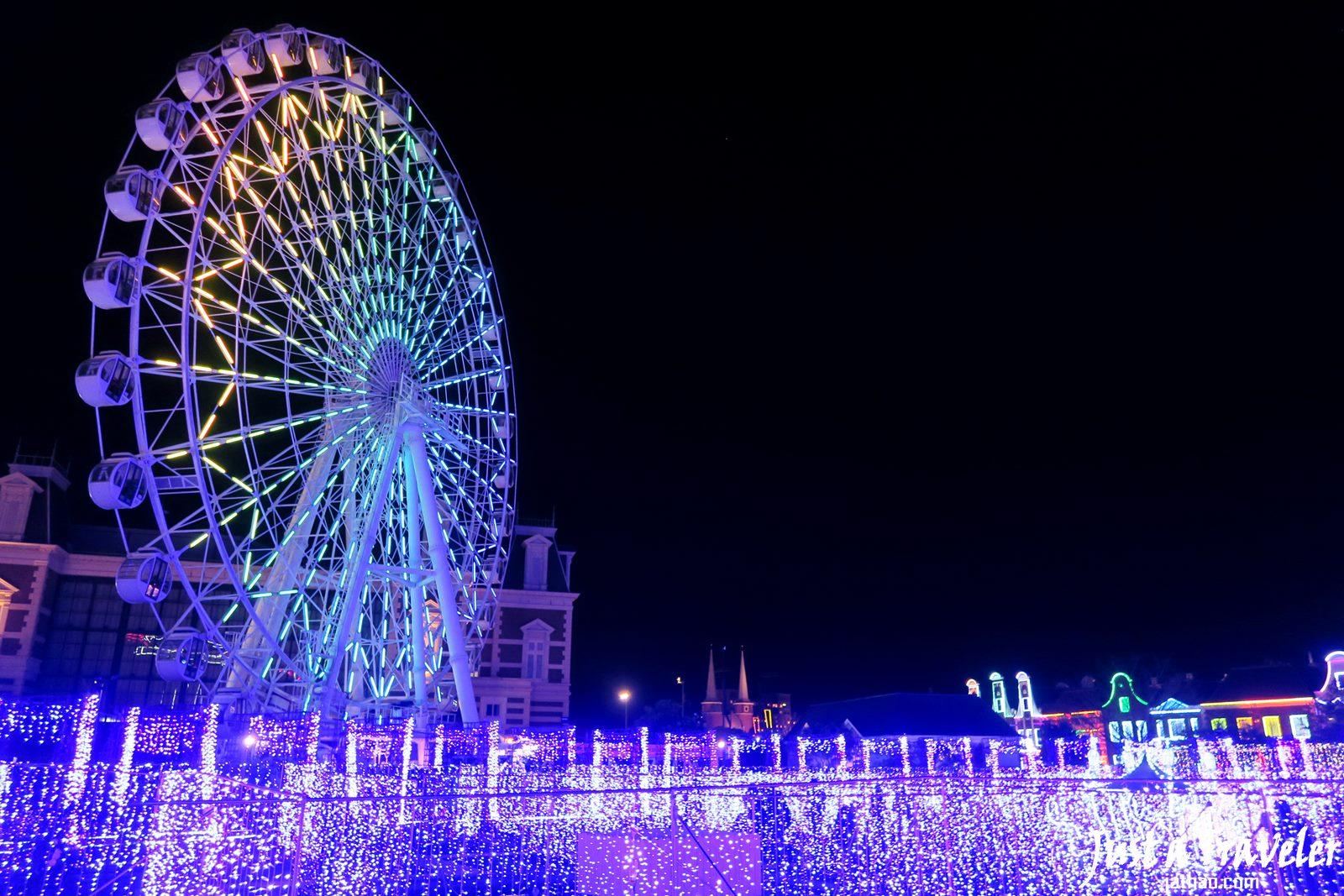 九州-長崎-景點-推薦-豪斯登堡-夜景-行程-旅遊-自由行-Kyushu-Huis Ten Bosch-night-view-Travel-Japan