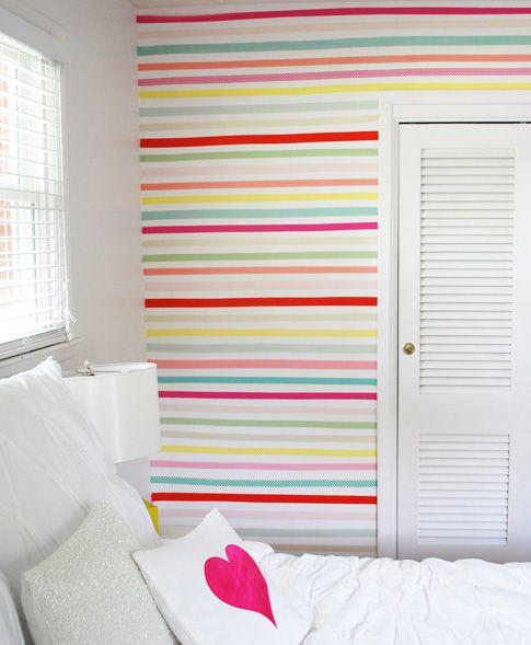 Decora tus paredes con washi tape la buhardilla decoraci n - Decora tus paredes ...