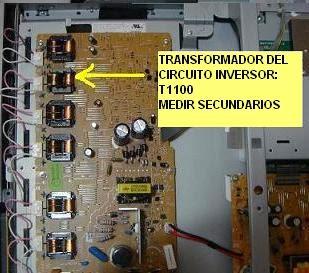 circuito del inversor en tv lcd silvania LD320SS8