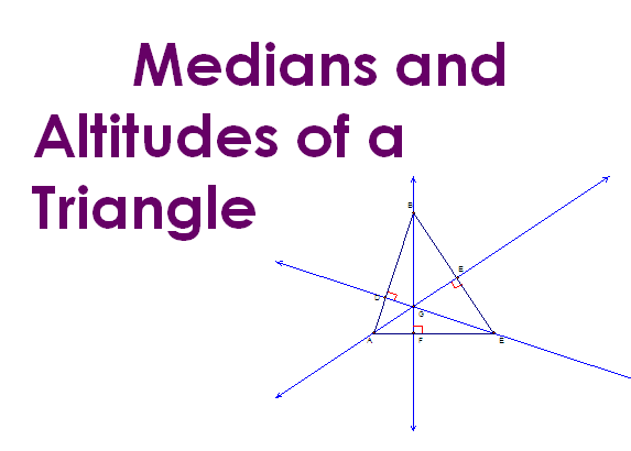Medians of a triangle,Altitude of triangle,centroid,incentre,orthocentre,
