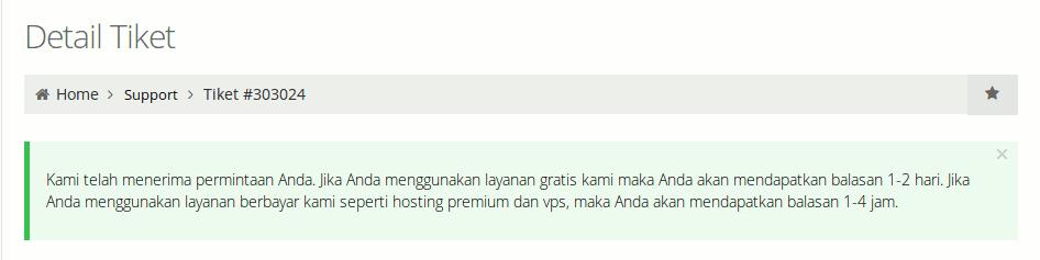 layanan tiket hosting gratis di Indonesia