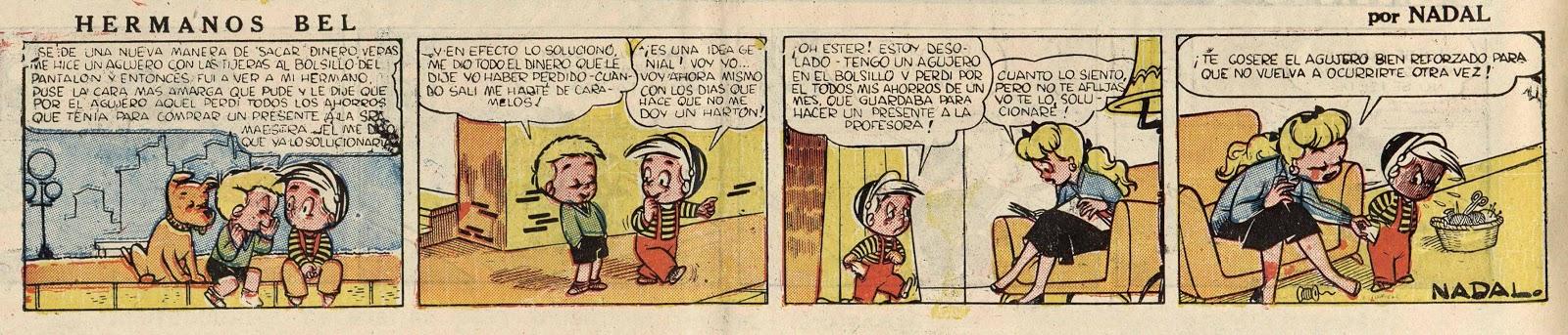 Hermanos Bel serie de Nadal para A Todo Color Supkemento Infantil del Diario la Prensa