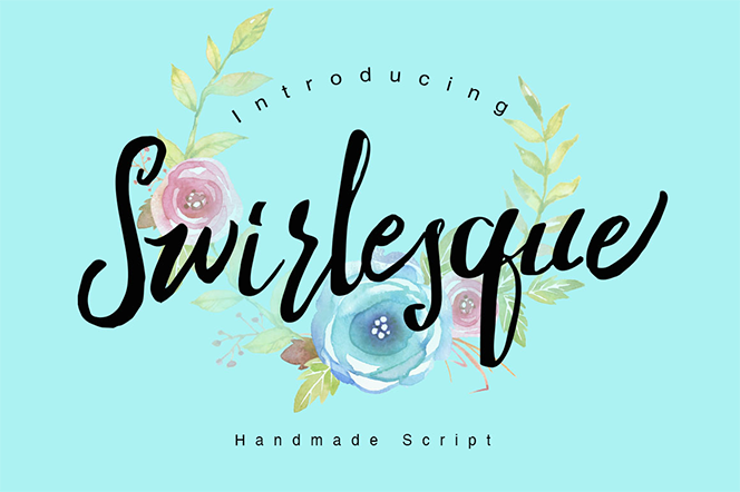 Swirlesque Typeface + Bonus - Dirtyline Studio