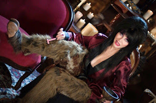 Elvira's hairy legs