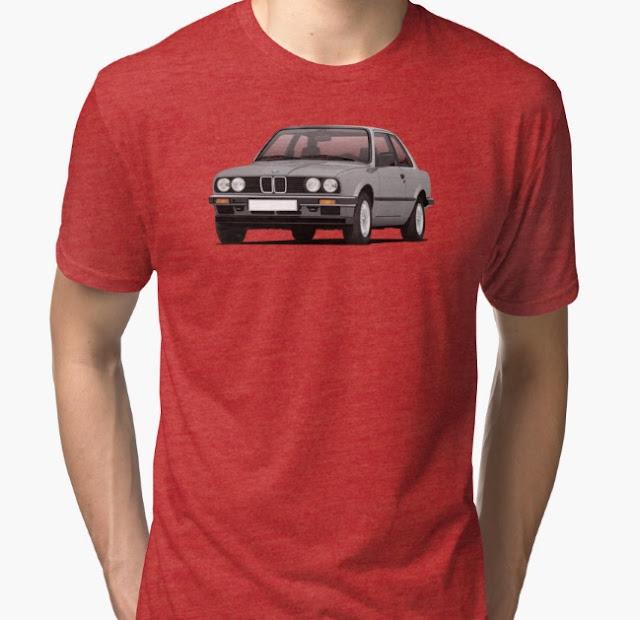 BMW E30 (3 Series) illustration t-shirts @Redbubble