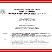 Contoh SK Surat Keputusan Panitia PPDB SD SMP SMA Format Words.Docx