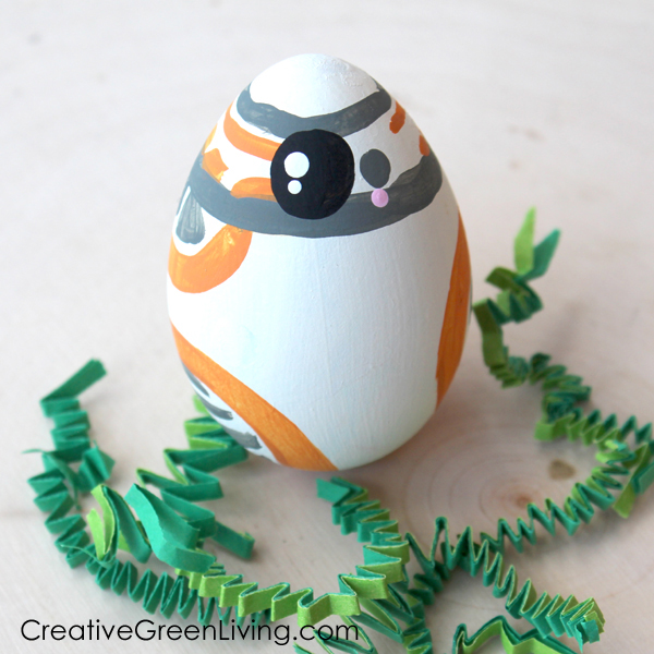 How to decorate Disney easter eggs - Star Wars BB8 easter egg craft